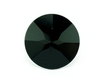 Swarovski elements round 27 mm JET (1 piece)