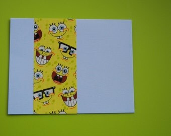 """Sponge Bob card--silly smiles for all; Two Fun cards """"Just Because"""" you make me and others SMILE!"""