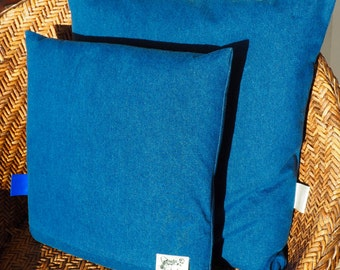 Cushion cover 100% Denim Stoned (sold with or without his inner cushion)