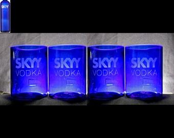 Set of 4 Skyy Vodka Premium Rocks Glasses, Christmas Gift, Father's Day, Home Bar, Housewarming, Anniversary, Wedding