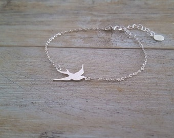 Bird Bracelet, sterling silver, hand made
