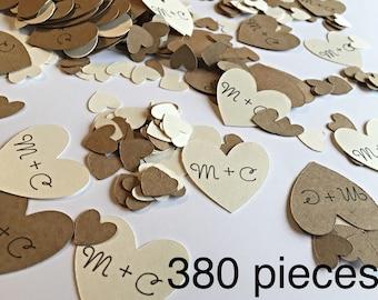 Custom confetti.  Bridal shower confetti   Wedding confetti. Engagement party confetti.  Heart confetti.  Bridal shower and wedding decorati