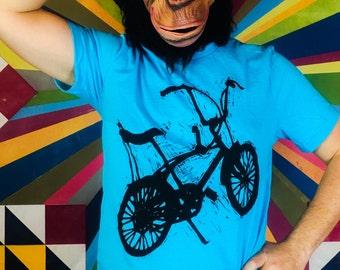 Stingray Bicycle Silhouette Woodblock Printed Tee