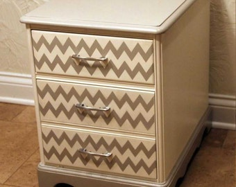 Painted File Cabinet with Stenciling *** (Chicago area pick-up and delivery only)
