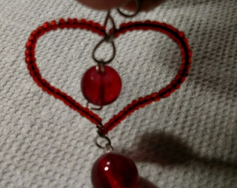 Red Heart Pendant or Necklace