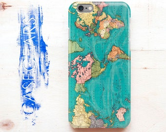 Old Vintage World Map Phone Case Antique Map Iphone Case Map Phone Cover Iphone 4 5 5c 6 6+ 6s+ Galaxy S4 S5 S6 S6 6edge S7 S7edge CGP0031