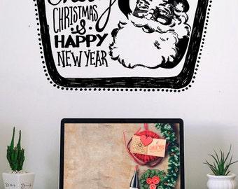 "Decorative vinyl ""Retro Santa"""