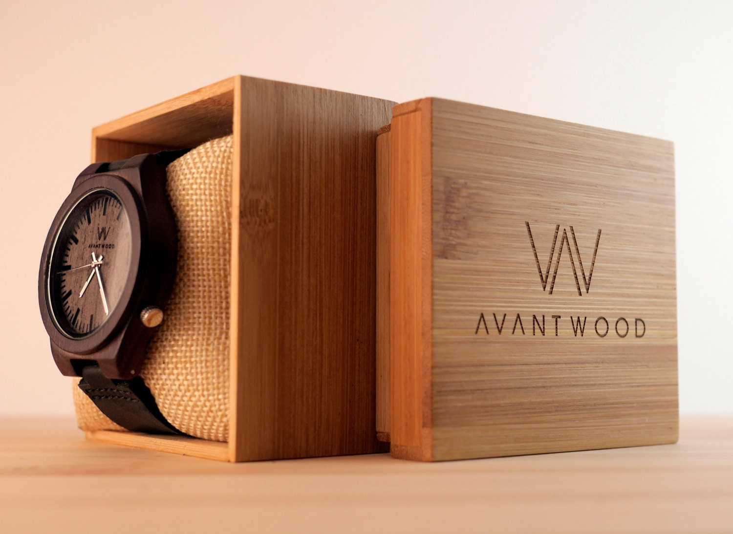 wood watch walnut wood watch wooden watch men s wood watch leather strap watch vintage men s watch groomsmen gift fiance gift wood box
