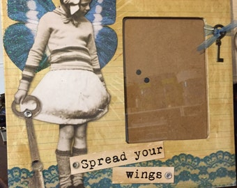 Spread Your Wings 12x12 Picture Frame for 4x6 Picture