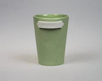 Archive Coffee Tumbler - Green Porcelain