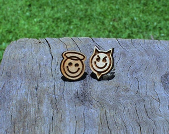 Angel & Devil Timber Earrings