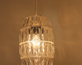 Vintage pendant light / pendant lamp / retro / mid century / plastic / space age