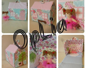 Hand Made Doll House/Purse for Little Lady MADE TO ORDER