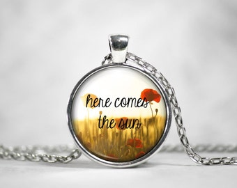 Here Comes The Sun Glass Pendant Necklace