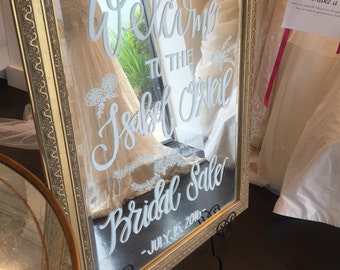 Custom Wedding Mirror
