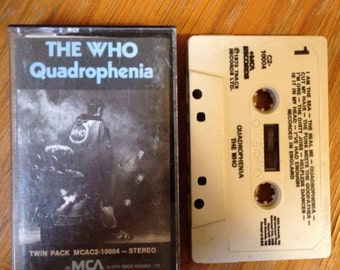 """The Who """"Quadrophenia"""" Vintage Cassette Tape in good condition"""