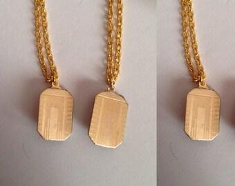 Art Deco Gold Plated Cufflink Pendants