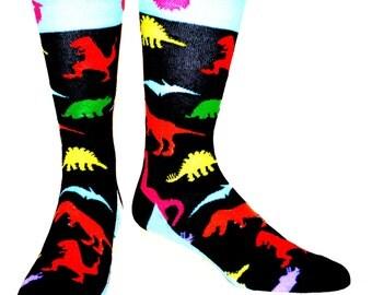 Dinosaur Socks, dress socks, trouser socks, fun socks, casual socks