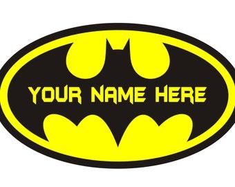 BATMAN Logo Personalized Iron On Transfer.