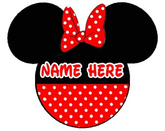 MINNIE MOUSE Personalized iron on transfer.