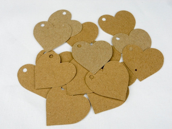 heart shaped, kraft tags, valentines gift, price labels, medium, hang tags, kraft labels, wedding supplies, craft supplies, gift tags