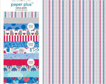 Doodlebug Design 4th of July Assortment Paper Plus Value Pack