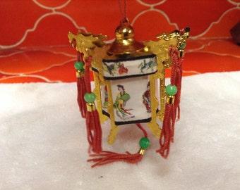 Vintage minature Chinese Palace Lantern with original box
