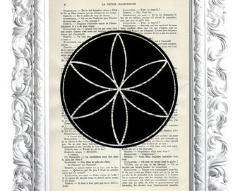 Flower of life 2. Print on French illustration publication. 28x19cm.