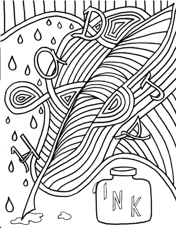 quill coloring pages - photo#31