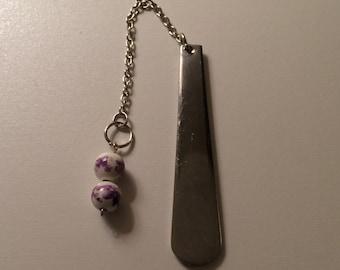 Purple Flower Bead Bookmark