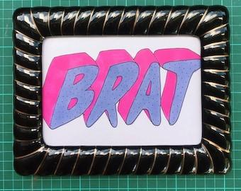 BRAT original framed illustration