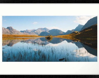 Fisherfield Scottish Mountains Framed Photographic Print
