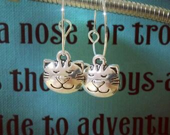 Kitty Cat Hoop Earrings