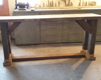 Barn wood Console Table