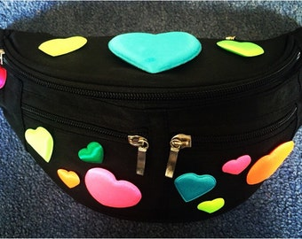 Neon Heart Bumbag