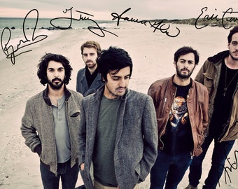Young the giant signed photo print - 12x8 inch - high quality -