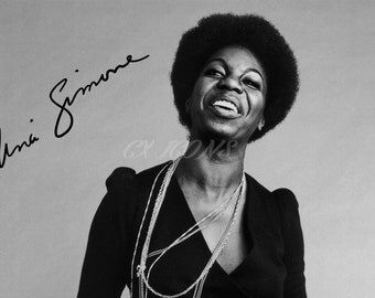 Nina Simone signed photo print - 12x8 inch - high quality -