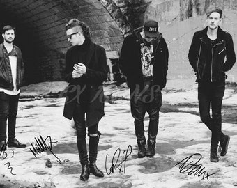 The 1975 signed photo print - 12x8 inch - high quality -