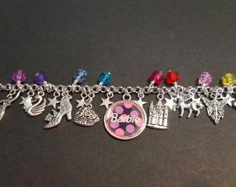 Barbie inspired kids charm bracelet