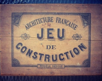 Construction - 1920 - French architecture - wood game