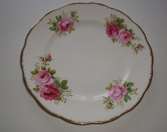 Set of 3 Royal Albert AMERICAN BEAUTY Dinner Plates