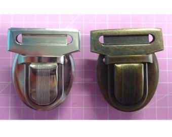 Press Lock / Tongue Lock in Nickel or Antique Brass