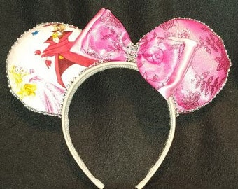 Sleeping Beauty Ears with animals. Disney Inspired