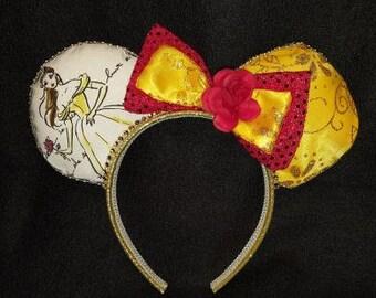 Princess Belle Disney Inspired Ears