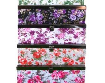 Floral Print Accordion Clutch Wallet