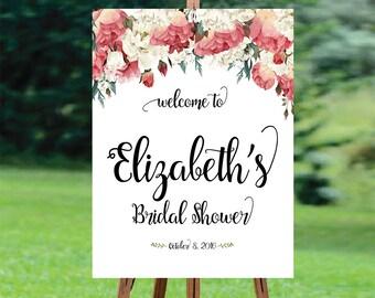 Bridal Shower Welcome Sign, Bridal Shower sign, Bridal Shower decoration, welcome wedding sign, Bridal shower invitation, WSC-3idd