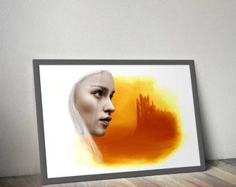 Mother of Dragons - Daenerys Targaryen - Digital Painting