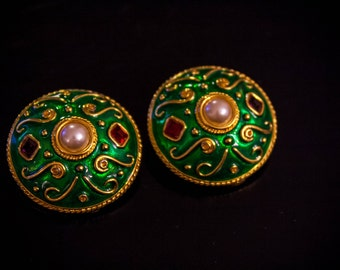 Clips earrings anonyme vintage