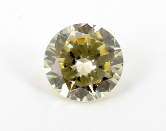 7mm Round Canary Yellow Cubic Zirconia Gemstone 2.29 ct