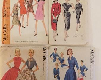 Vintage dress patterns, 50's & 60's